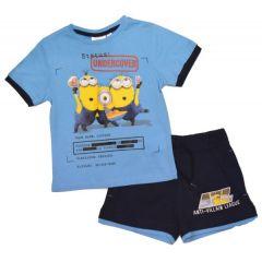 Set tricou + PS Minions-Albastru