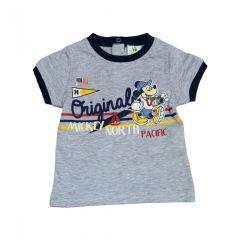 Set tricou+pant Mickey bebe -Gri