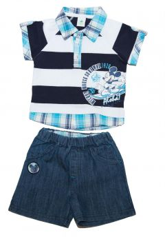 Set tricou+ps blug Mickey -Bleumarin