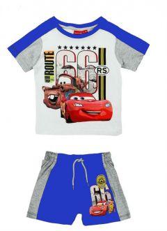 Set tricou+PS Cars-Alb/Albastru