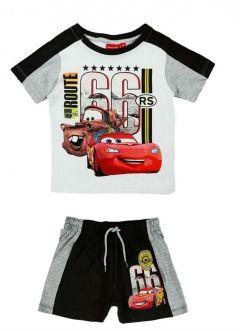 Set tricou+PS Cars-Alb/Negru