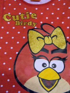 Tricou ML Angry Birds -Rosu