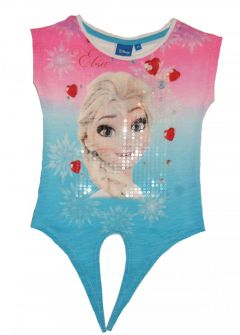 Tricou MS Frozen-Roz/Bleu