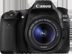 PHOTO CAMERA CANON 80D EF 18-55 IS STM