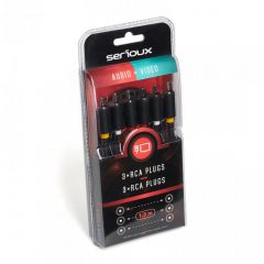 SERIOUX 3X RCA M - 3X RCA M CABLE 1.5M