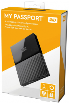 EHDD 1TB WD 2.5 MY PASSPORT BLACK