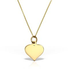 Colier Heart of Gold  galben