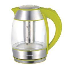 Fierbator Heinner cu filtru de ceai, 2200W, 1.8l, Verde, sticla