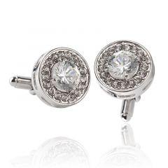 Butoni pentru camasa rotunzi, argintii Rotonda