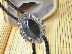 Cravata Bolo opal negru Black Opal