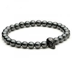 All Black Skull Men Bracelet