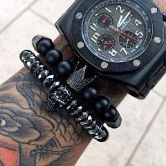 All Black Crown Bracelet