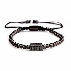 Brooks All Black Men Zircon Bracelet