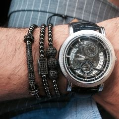 All Black Set 3 Brooks Zircon Bracelets