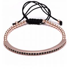 Brooks Men Bracelet Rose Gold 14K