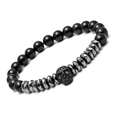 Black Skull Stone Bracelet