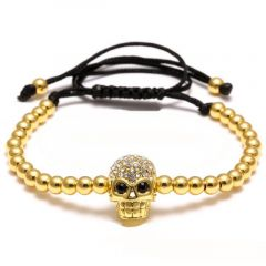 Brooks Gold Skull Zircon