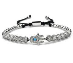 Bratara Brooks Silver Luxury Hamsa Fatima