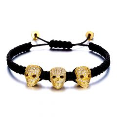 Brooks 3 Zircon Head Gold Skull