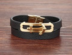 Brooks Nautical Leather Gold Anchor