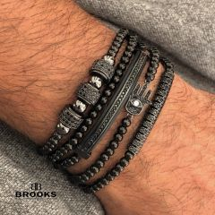 Brooks All Black Set Promaster 5 Zircon Bracelets