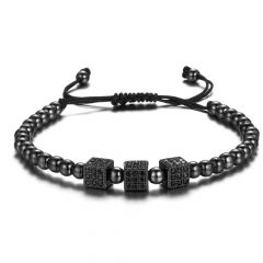 Brooks Black Cubic Zircon Bracelet