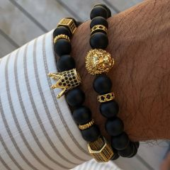 Brooks Black Stone Agate King Lion