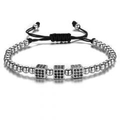Brooks Cubic Silver Zircon Bracelet