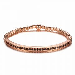 Brooks Gold Arque Bead Bracelet ROSE GOLD