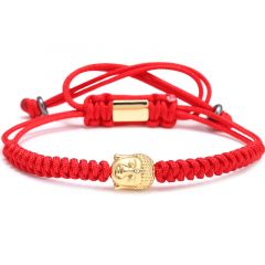 Brooks Gold Buddha Bracelet ALBASTRU
