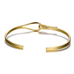 Brooks Gold Zircon Men Bangle