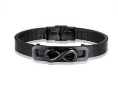 Brooks Leather Black Infinity Symbol