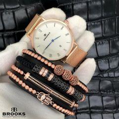 Brooks Luxury Set 4 Rose Gold Elysee