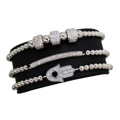 Brooks Luxury Set Fatima Silver Bracelets