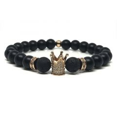 Brooks Black Agate White Zircon Crown