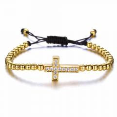 Brooks Woman Gold Zircon Cross