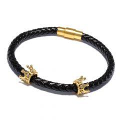 Brooks Gold Crown Leather Strap 17 CM