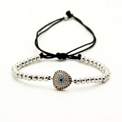 Brooks Zirconia Eye Bracelet SILVER
