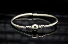 Men Wire Silver Bracelet