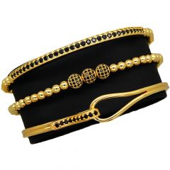 Luxury Set 3 Brooks Gold Bracelets