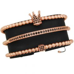 Luxury Set 3 Brooks Rose Gold 14K Bracelets