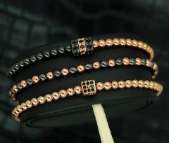 Luxury Set 3 Rose Gold Zircon Elements