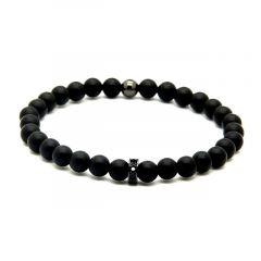 Agate Men Black Bracelet