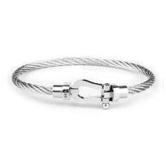 Nautical Men Silver Wire Bracelet