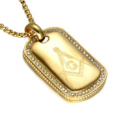Pandantiv Gold Masonic Symbol
