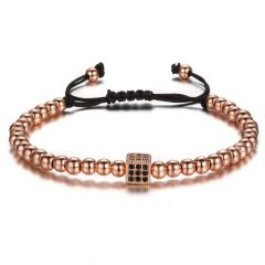 Brooks Rose Gold 14K Men Bracelet