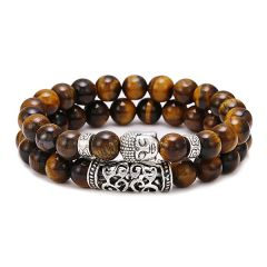 Set 2 Bratari Brooks Agate Buddha Brown