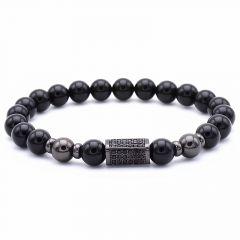 All Black Stone Bracelet