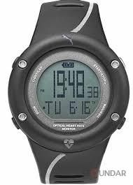 PUMA Unisex PU911291002 Optical Cardiac Black Digital Display Watch
