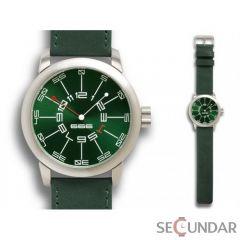 Ceas 666Barcelona Adventure green leather 8424210000834 Barbatesc